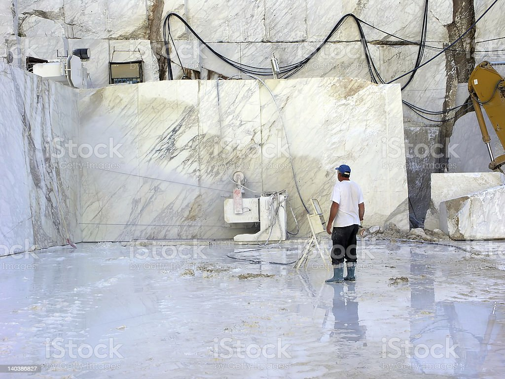 stone-quarry stock photo