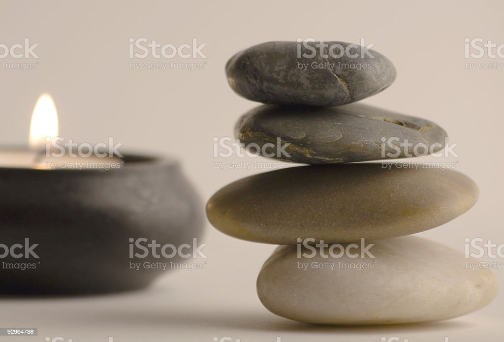 Stones and candle royalty-free stock photo