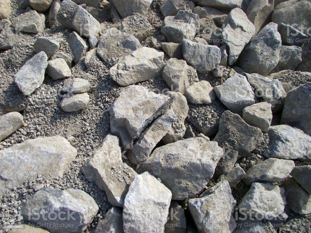 Stones and gravel stock photo