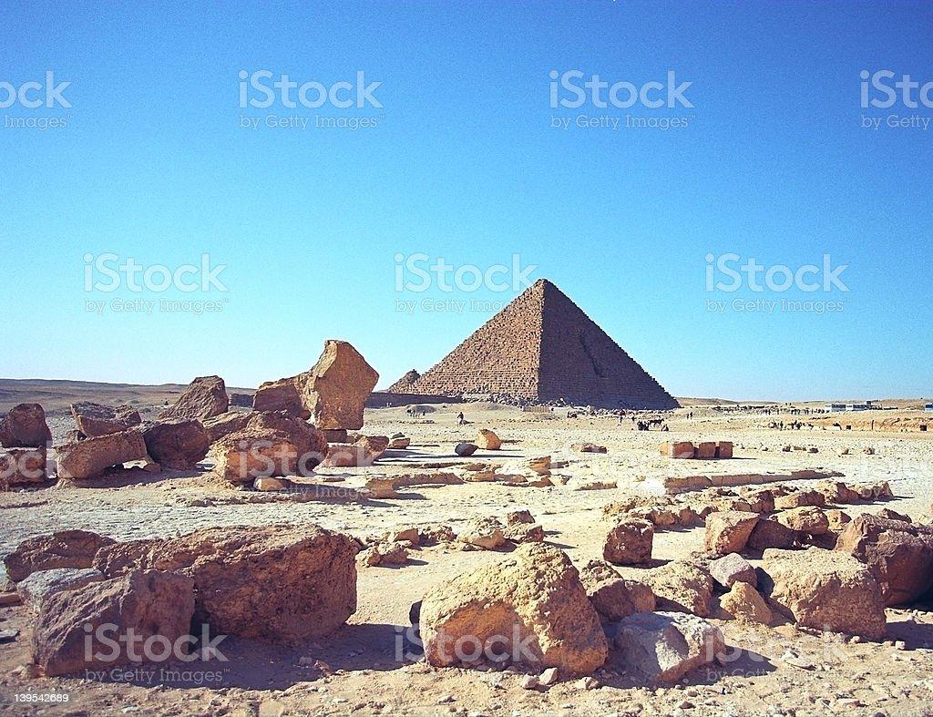 Stones and Pyramid stock photo