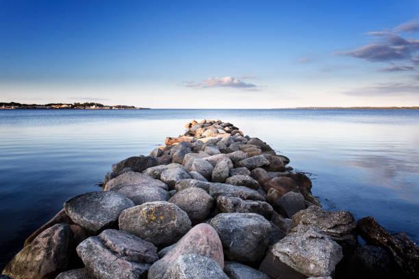 Steinen und Felsen am Strand, Ostsee – Foto