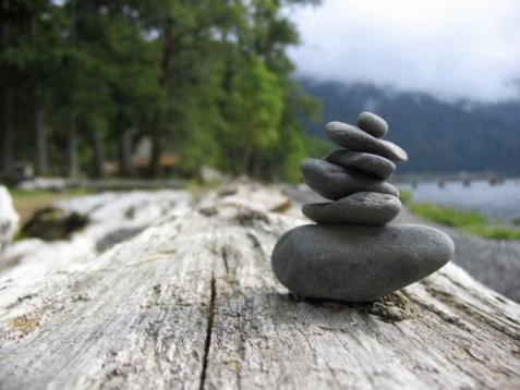 Stones at Lake Crescent