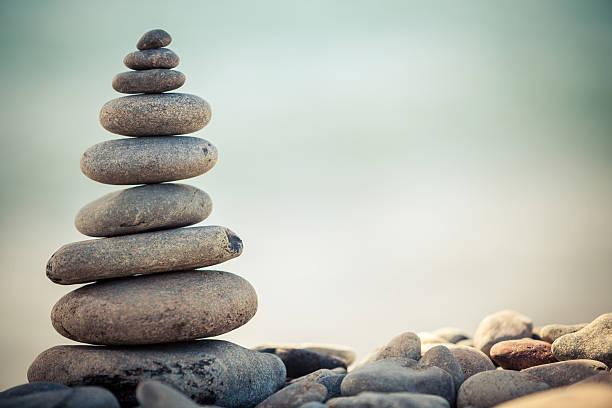 balance-Kiesel Steine Gestapelt – Foto