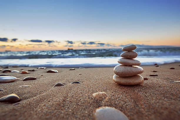 stones balance - stability stock photos and pictures