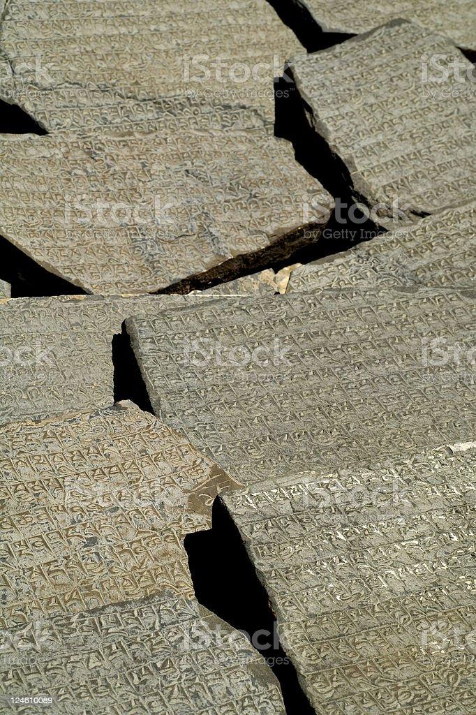 mani stones stock photo