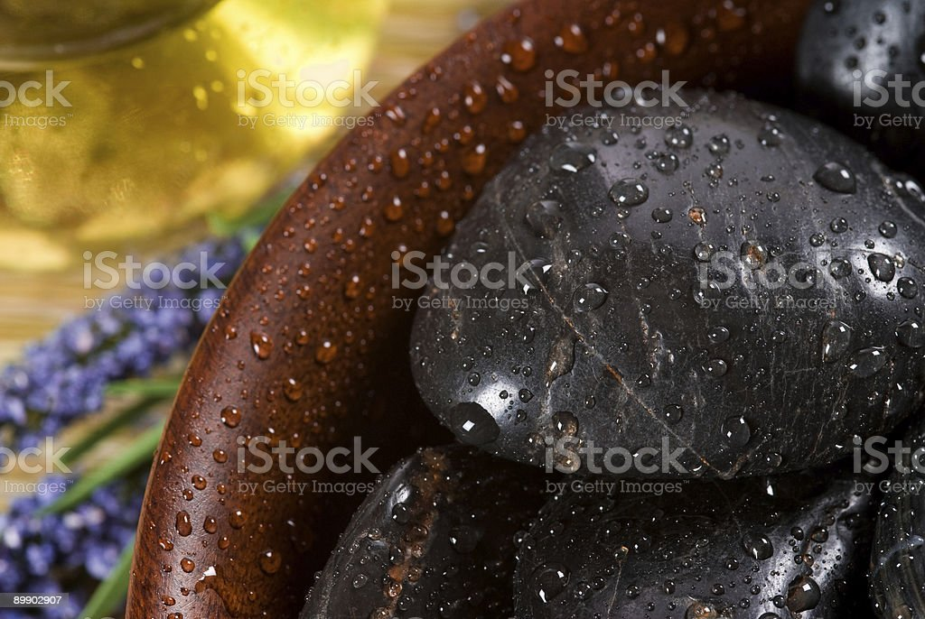 stones in a bowl royalty-free stock photo