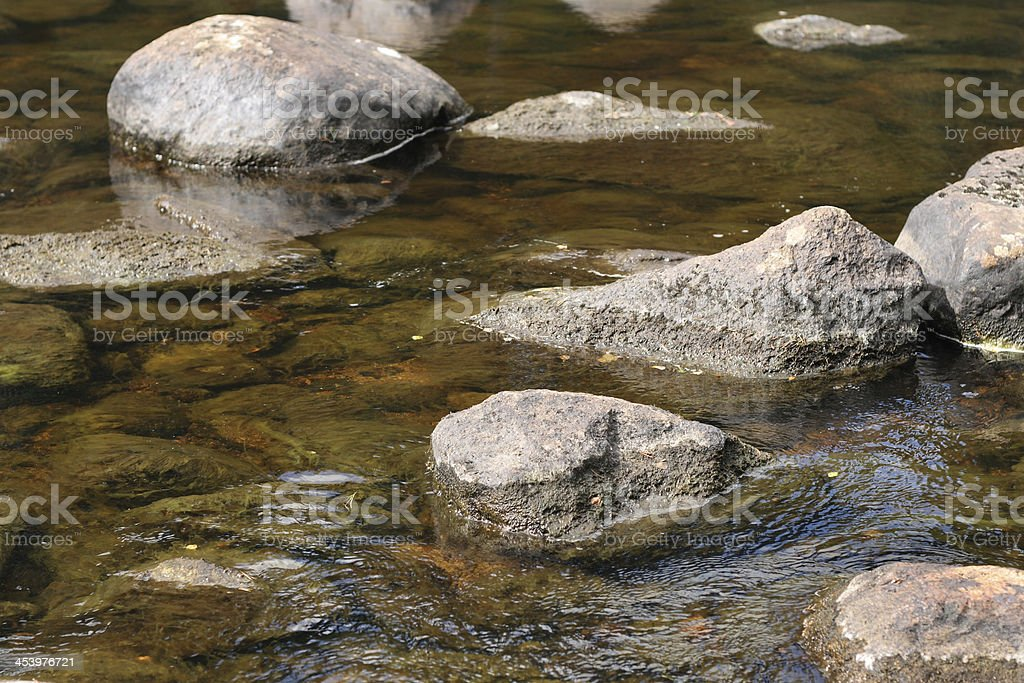 Stones in clear water royalty-free stock photo