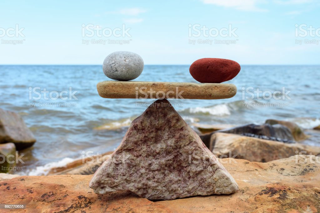 Stones in equilibrium stock photo