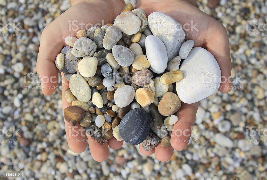 Stones in Hands royalty-free stock photo