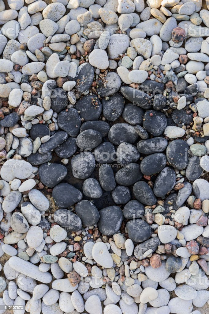 Stones in rock garden stock photo