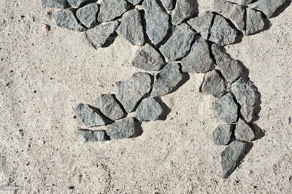 Stones in sand royalty-free stock photo