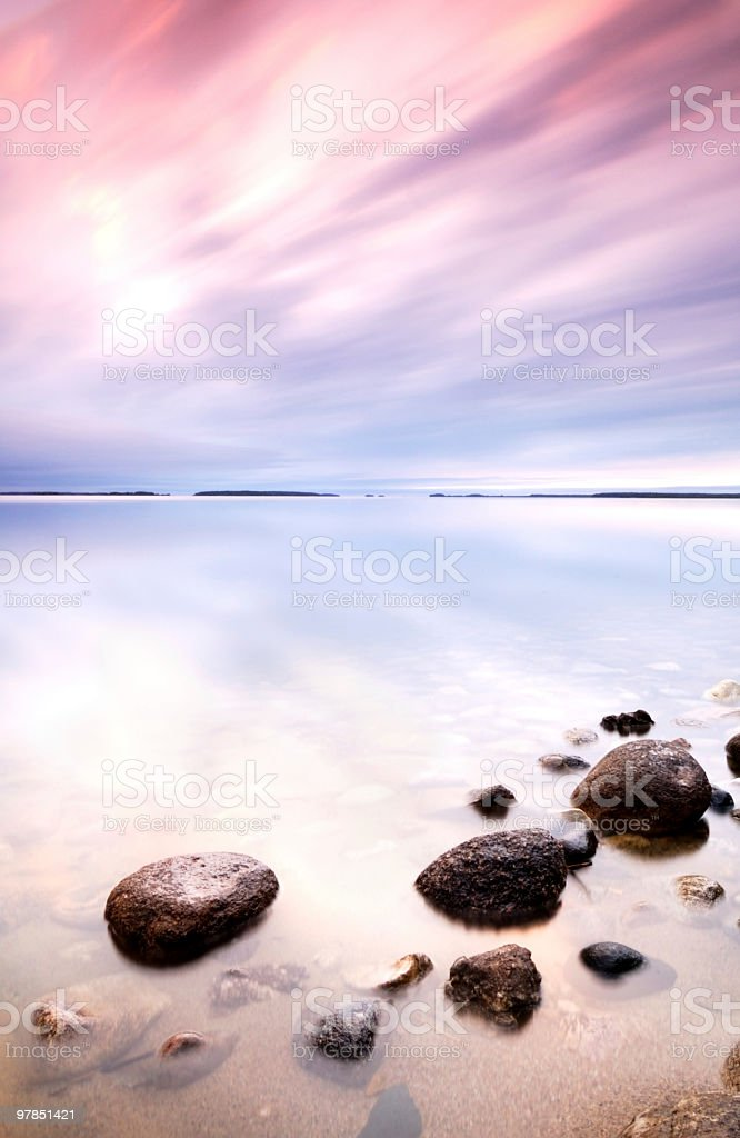 Stones in sea royalty-free stock photo