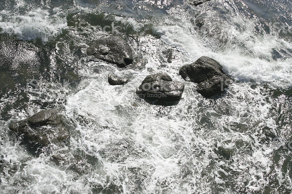 stones in the sea royalty-free stock photo