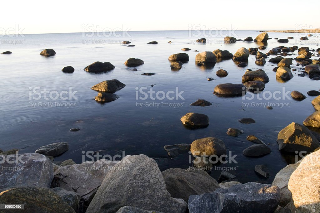 Stones in water royalty-free stock photo