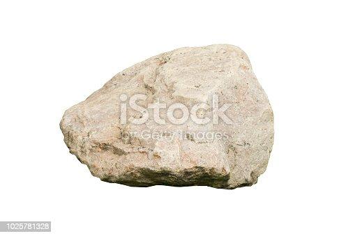 stones isolated on white background.rock stone isolated on white background.