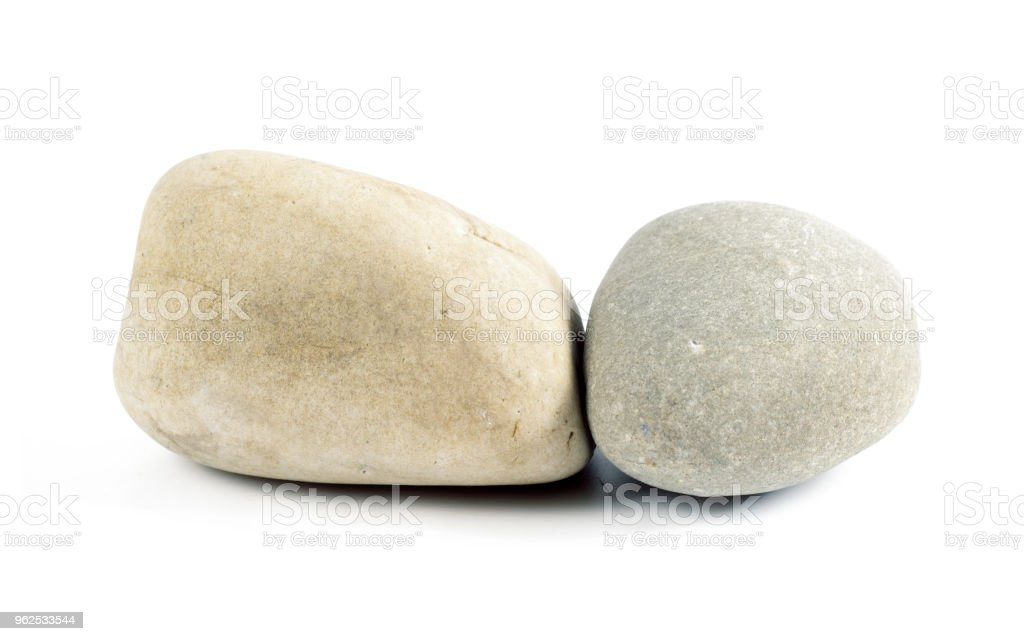 stones isolated on white background. - Royalty-free Black Color Stock Photo