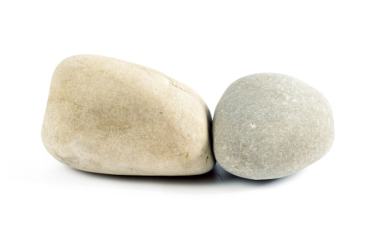 Stones Isolated On White Background Stock Photo - Download Image Now