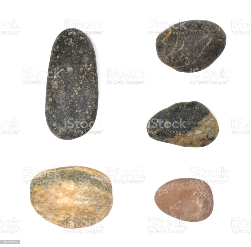 Stones Isolated On White Backgroundbig Granite Rock Stonerock Stone