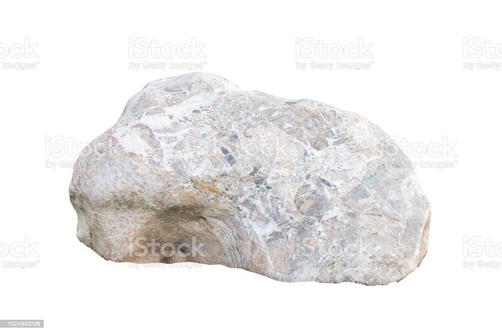Stones Isolated On White Backgroundrock Stone Stock Photo