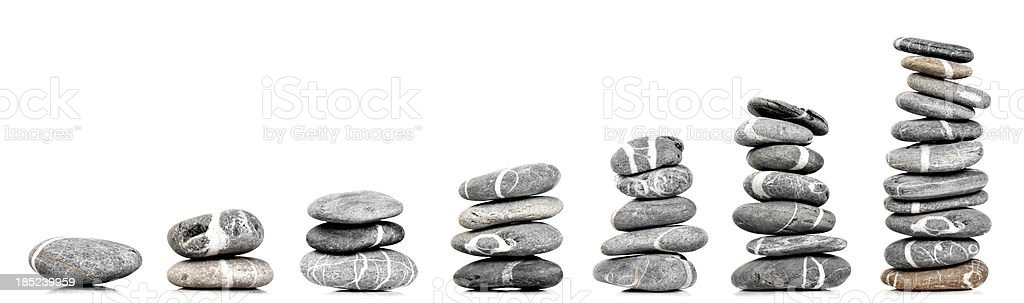 Stones like a graph stock photo