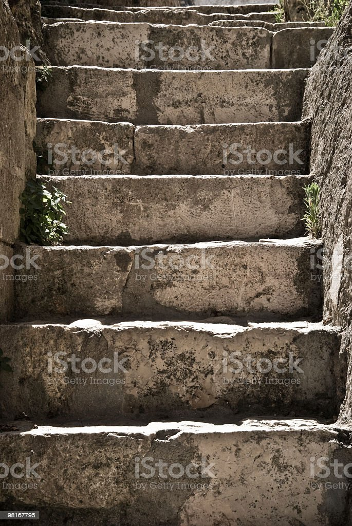 Stones of Matera (stairs) royalty-free stock photo