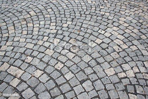 Full frame of pavement stones, design.
