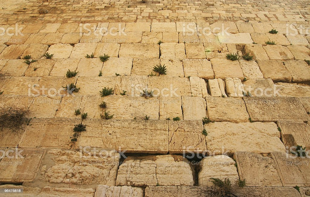 Stones of the Wailing wall, Jerusalem royalty-free stock photo