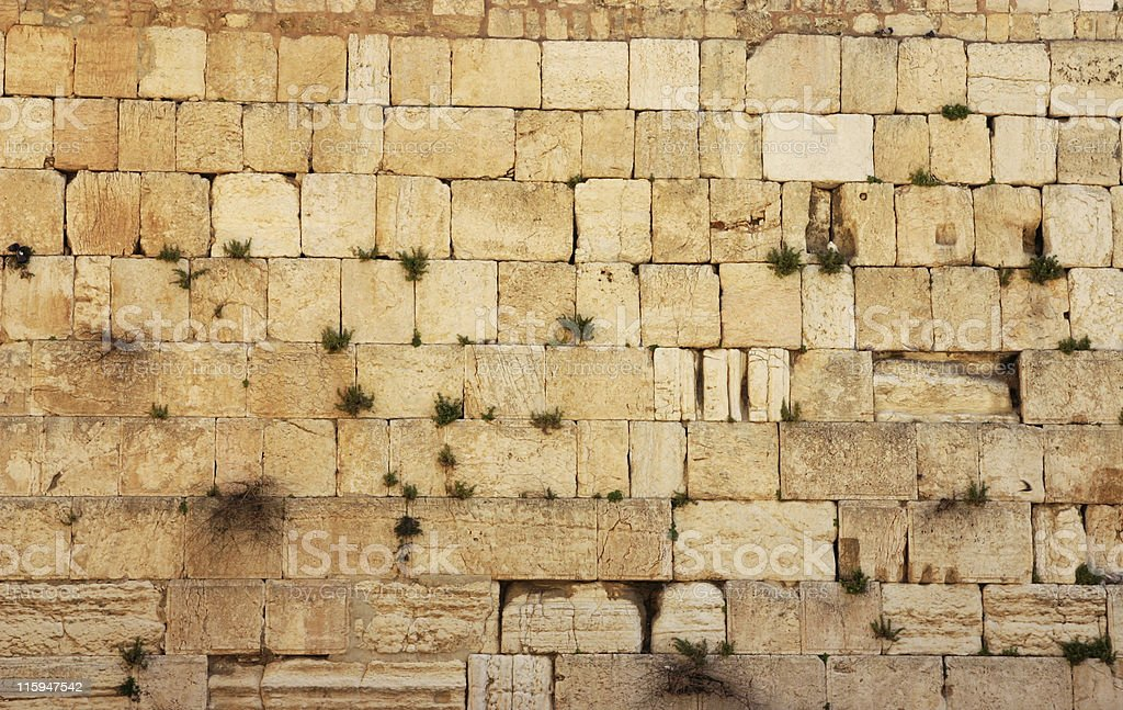 Stones of the Western Wall, Jerusalem. stock photo