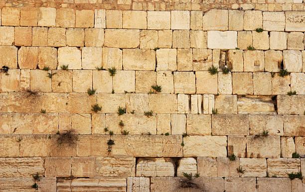 Stones of the Western Wall, Jerusalem. stock photo