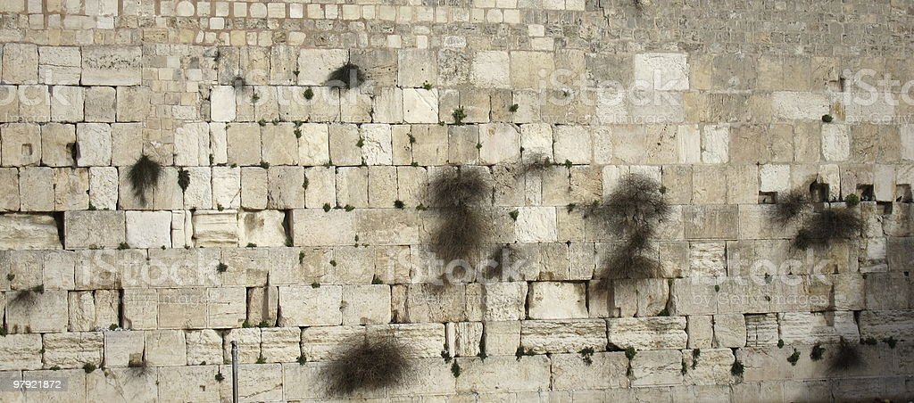 Stones of the Western Wall, Jerusalem royalty-free stock photo