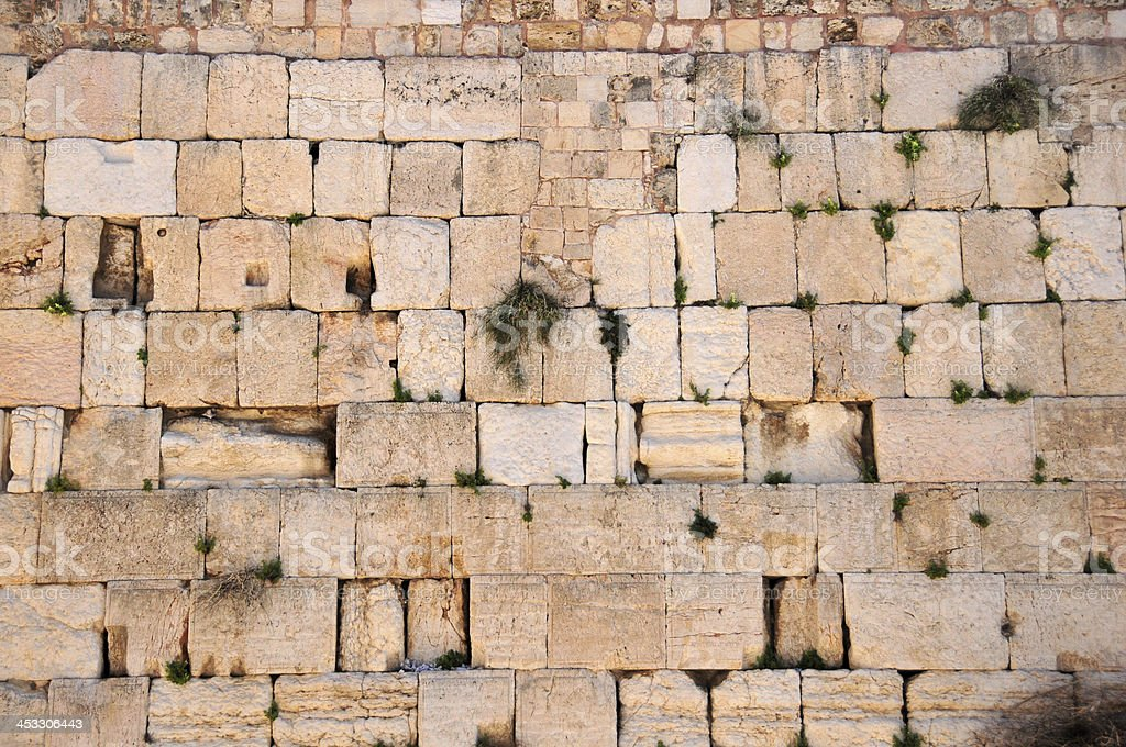 Stones of the Western Wall / Kotel, Jerusalem stock photo