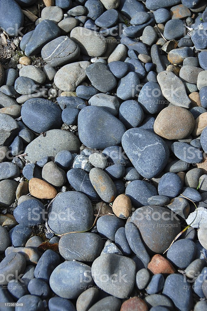 Stones on a beach royalty-free stock photo