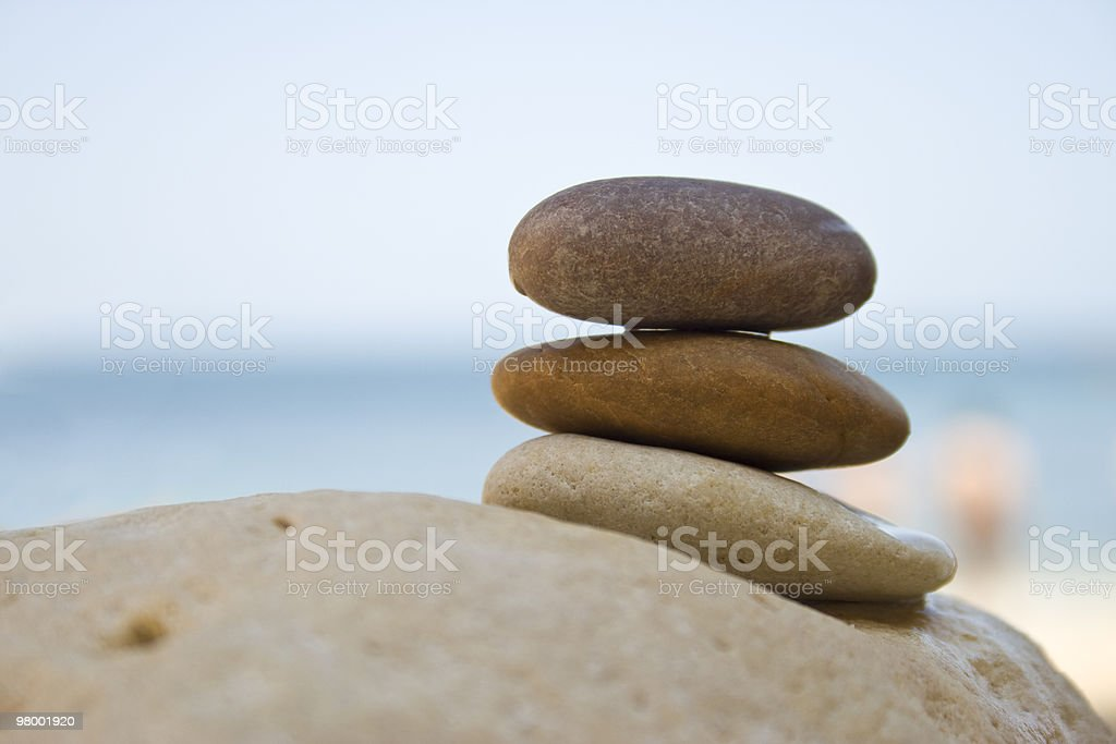 Stones on a rock royalty free stockfoto