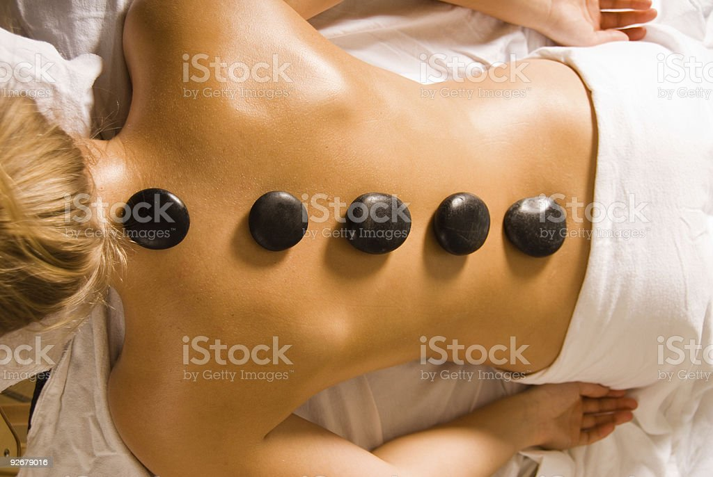 Stones on back royalty-free stock photo