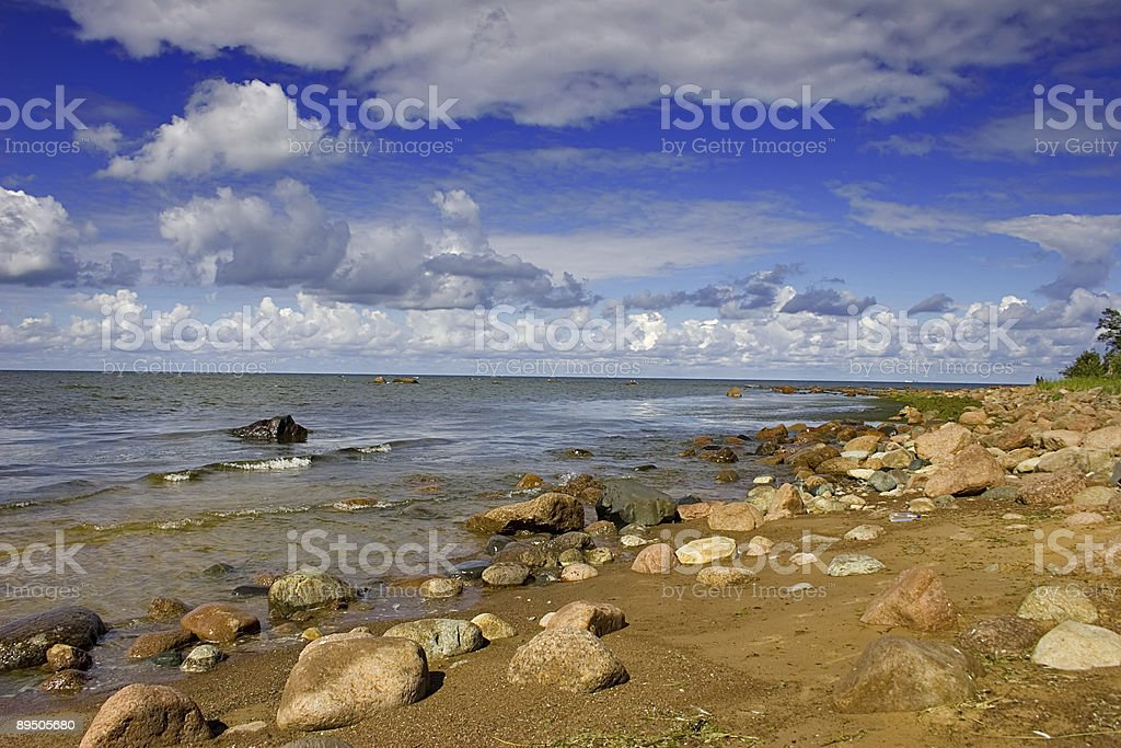 stones on coast royalty-free stock photo