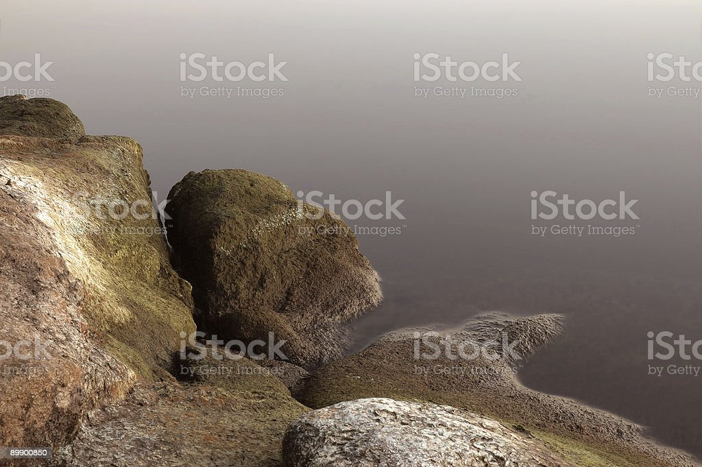 Stones on decline royalty-free stock photo