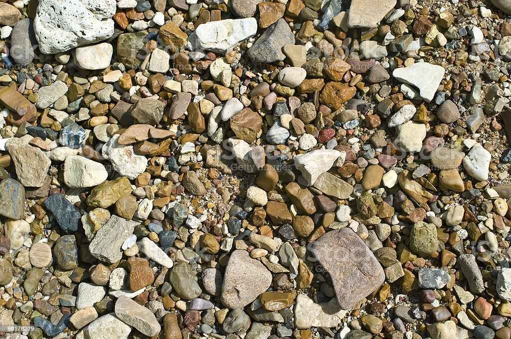 stones on sand royalty-free stock photo