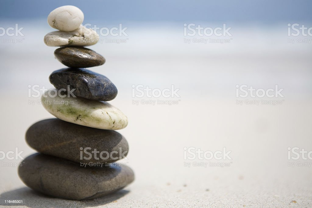 Stones on the beach royalty-free stock photo