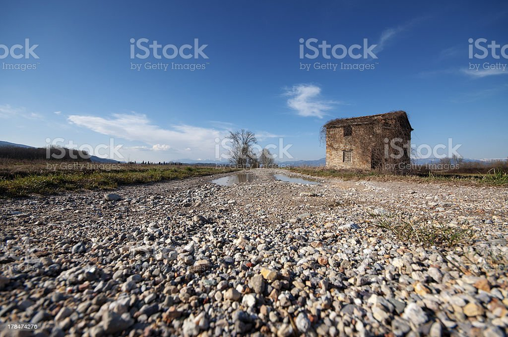 Stones on the road royalty-free stock photo
