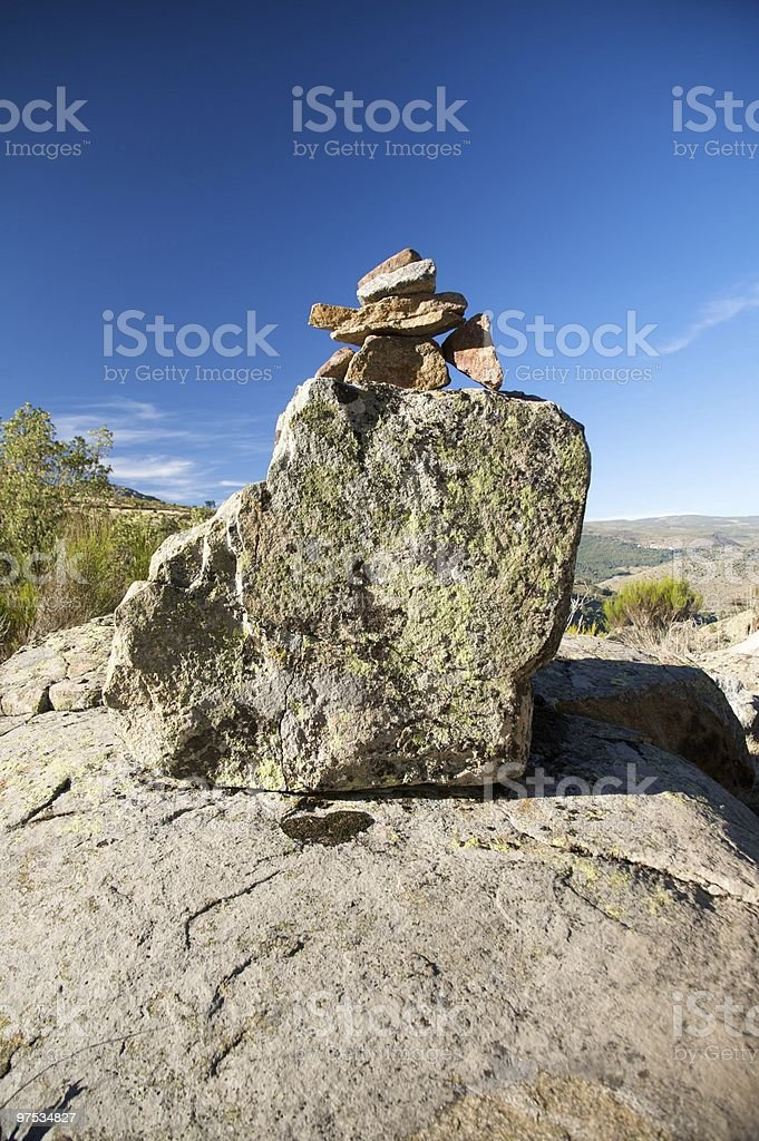 stones on the rocks royalty-free stock photo