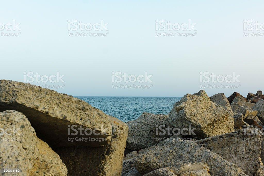 Pedras na costa foto de stock royalty-free