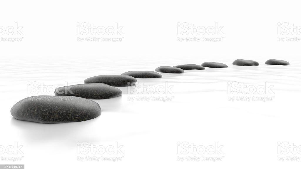 Stones on White Sea stock photo