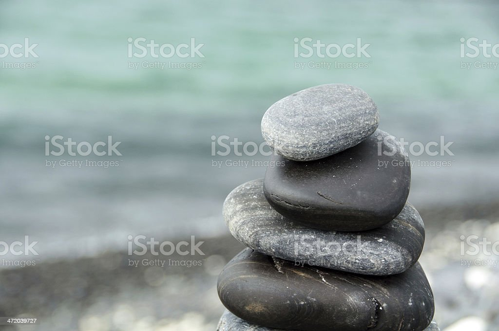 Stones stacked - Stock Image stock photo