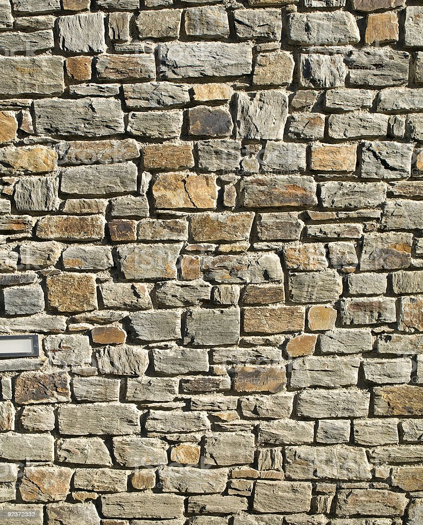 Stones Wall royalty-free stock photo
