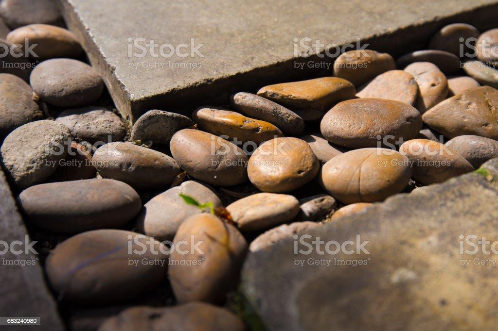 Stones with concrete 免版稅 stock photo