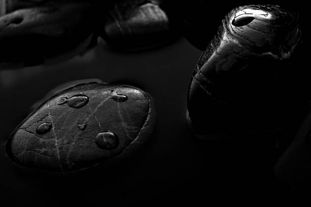 Stones with droplets stock photo
