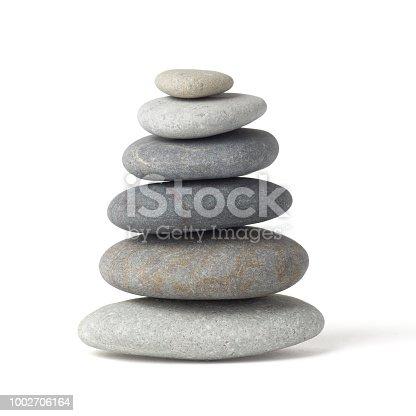 stones, zen on white