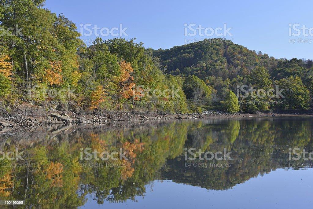 Stonewall Jack Lake in Autumn stock photo