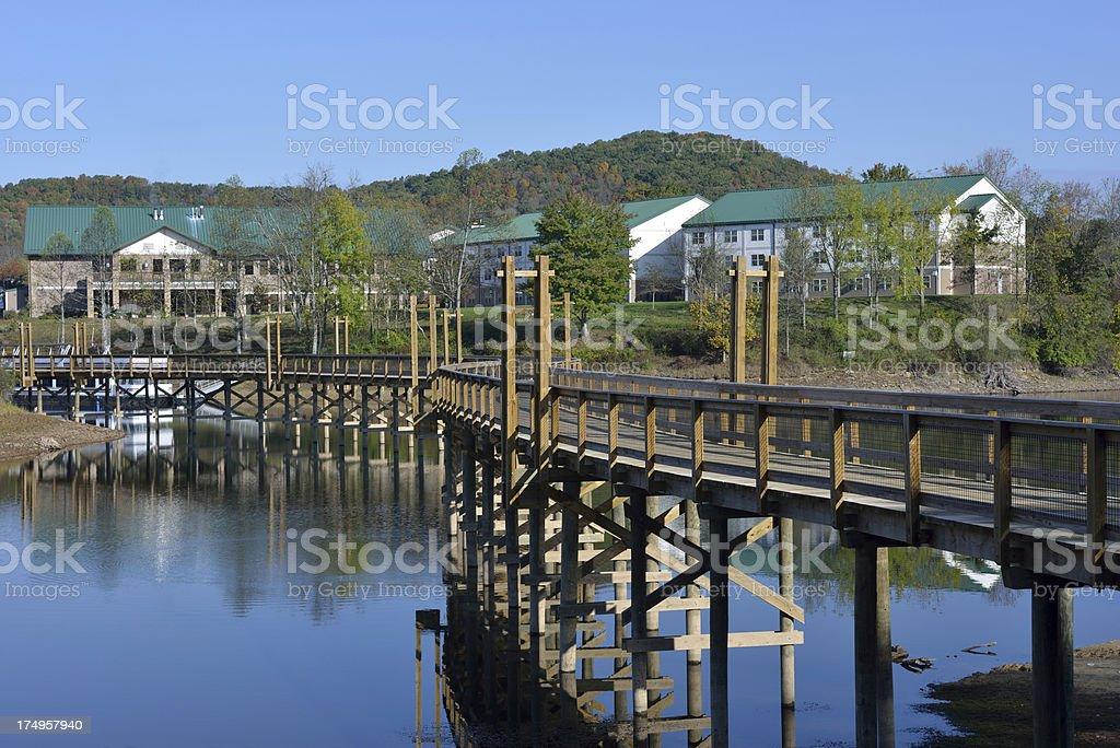 Stonewall Jackson Lake State Park stock photo