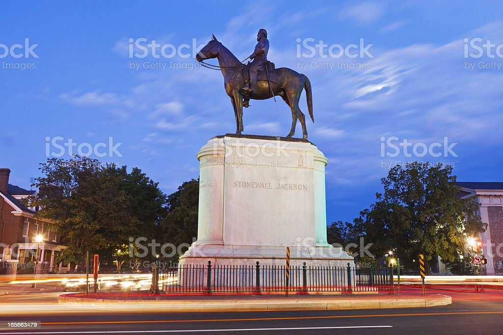 Stonewall Jackson Monument In Richmond, Virginia stock photo
